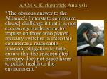 aam v kirkpatrick analysis41