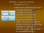 nema v sorrell analysis commerce cl53