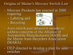 origins of maine s mercury switch law