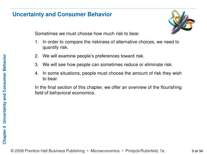 Uncertainty and consumer behavior