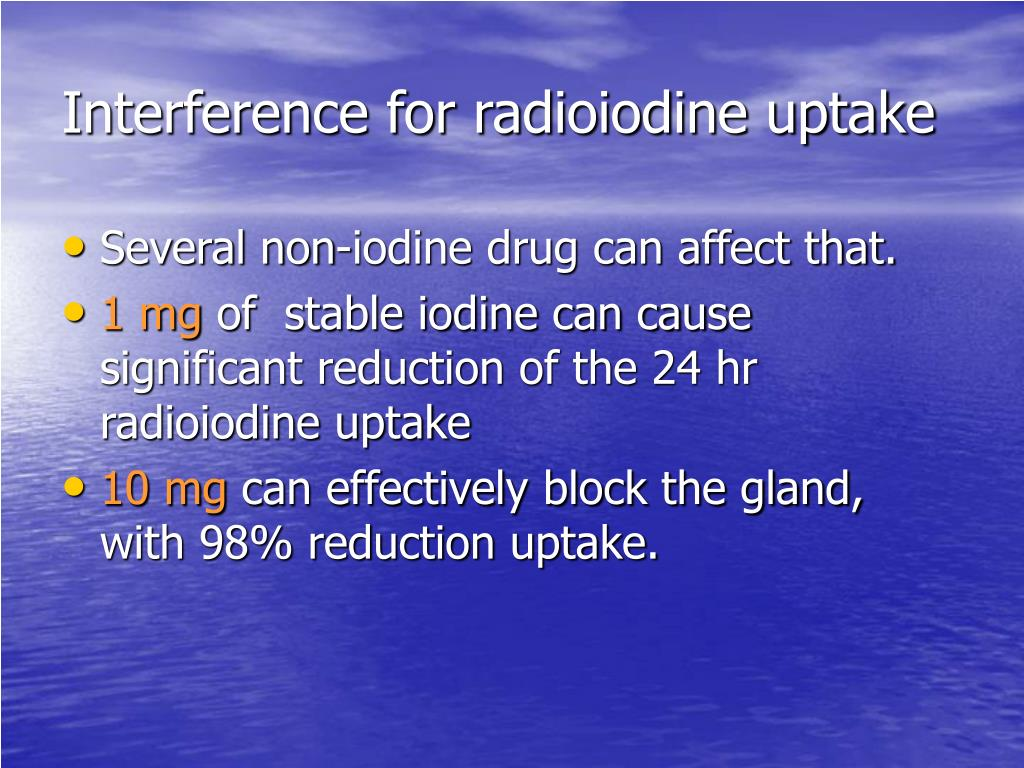 Interference for radioiodine uptake