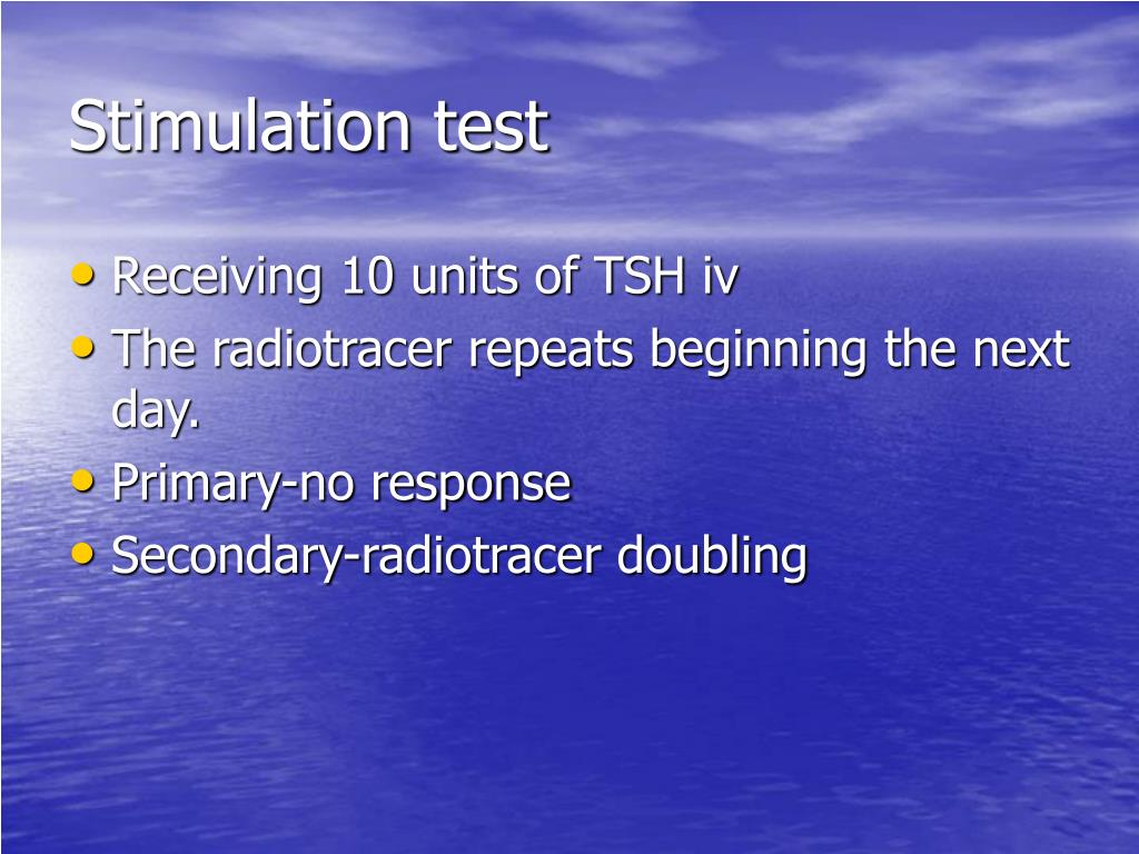 Stimulation test
