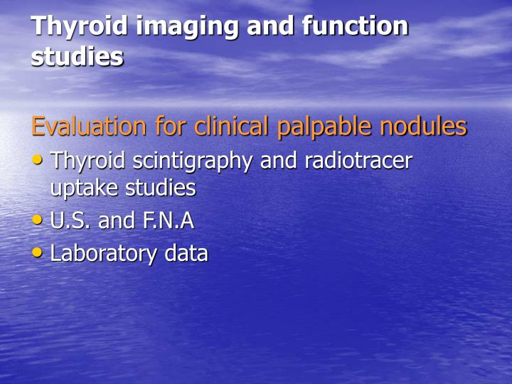 Thyroid imaging and function studies