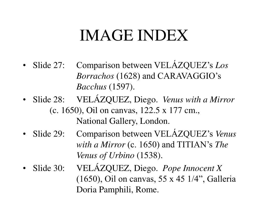 IMAGE INDEX