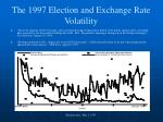 the 1997 election and exchange rate volatility