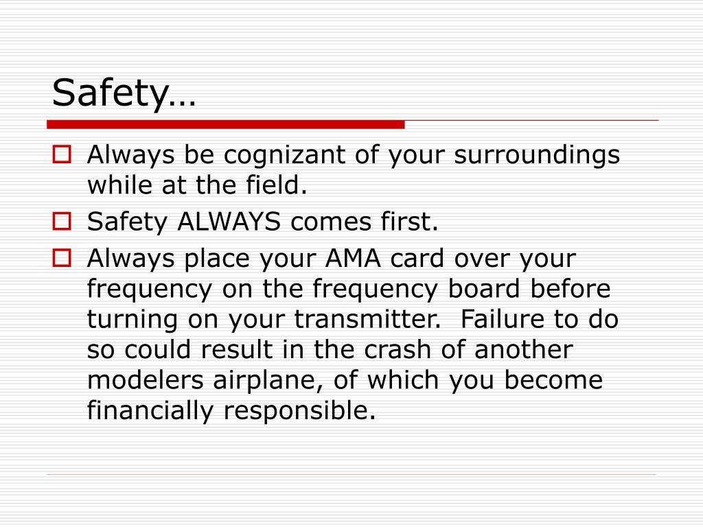 Safety…