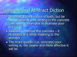 concrete and abstract diction17