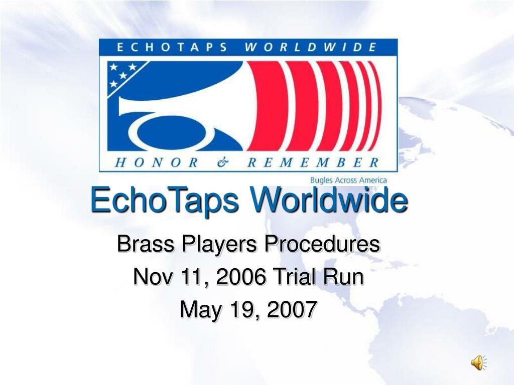 echotaps worldwide l.