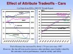 effect of attribute tradeoffs cars