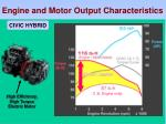 engine and motor output characteristics