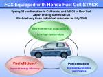 fcx equipped with honda fuel cell stack