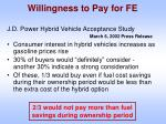 willingness to pay for fe