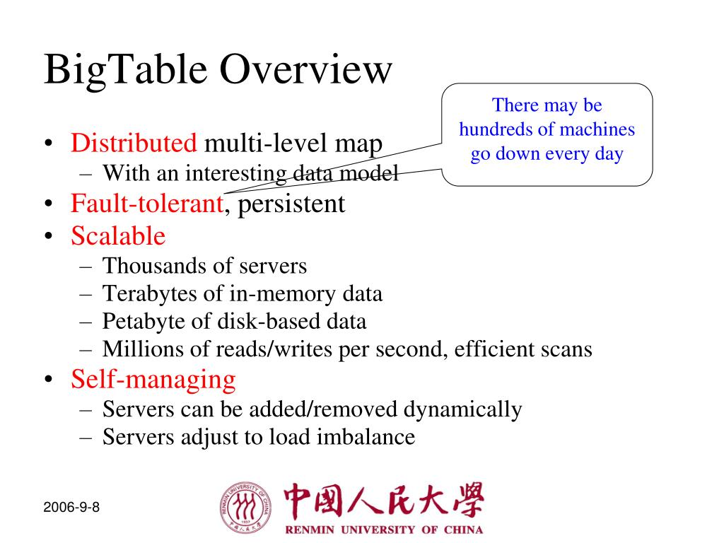 BigTable Overview