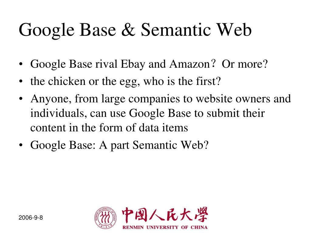 Google Base & Semantic Web