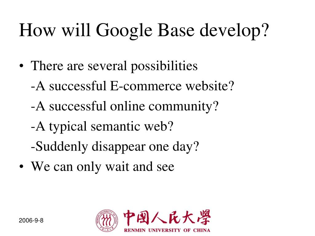 How will Google Base develop?