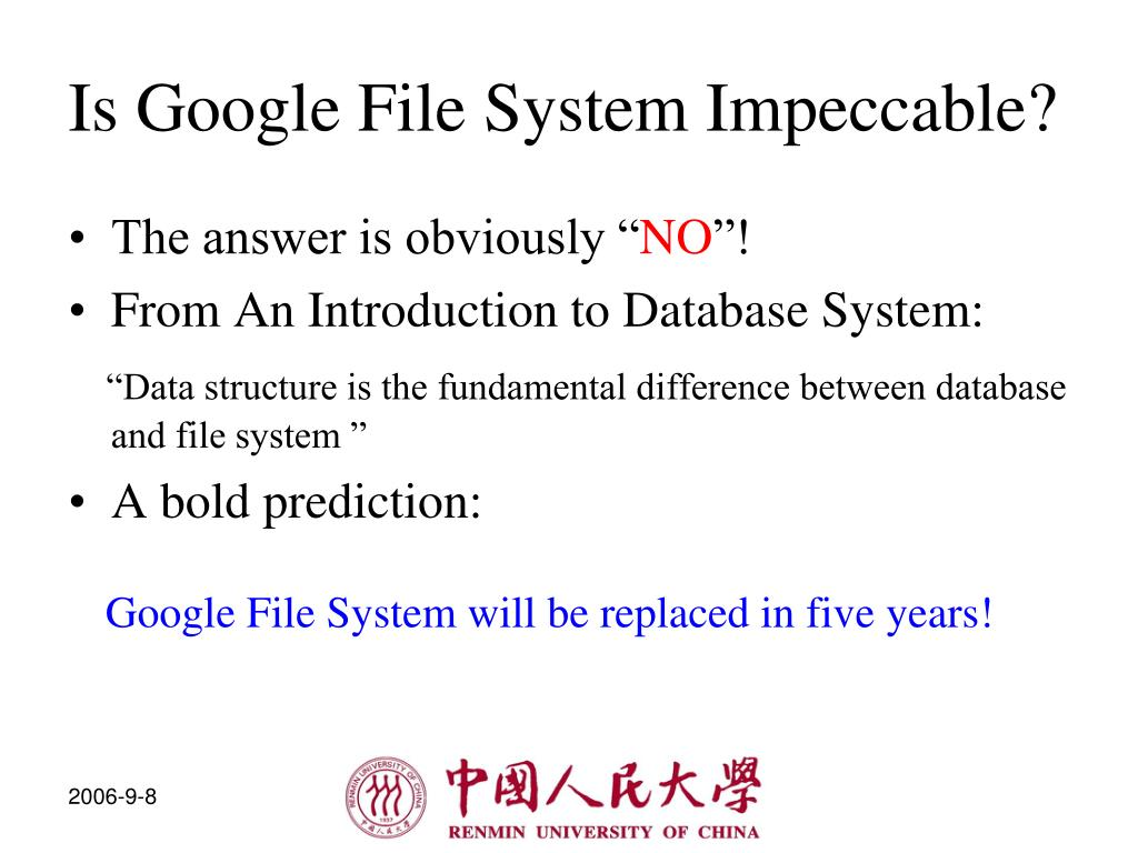 Is Google File System Impeccable?