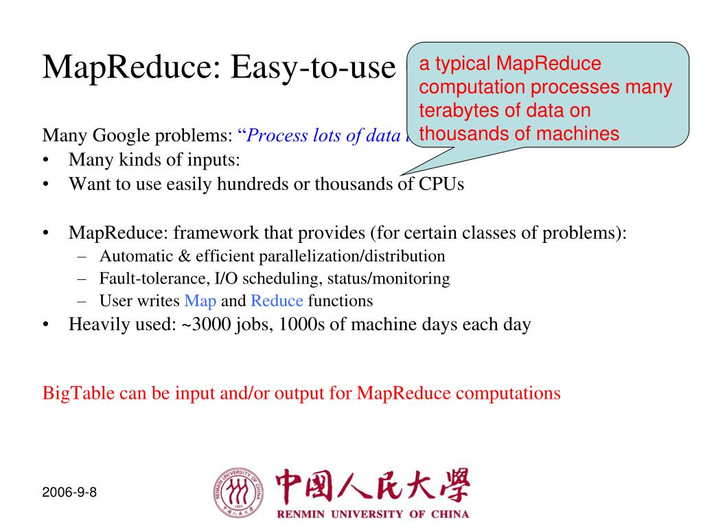 MapReduce: Easy-to-use Cycles