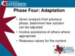 phase four adaptation