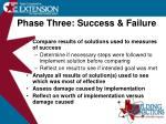phase three success failure
