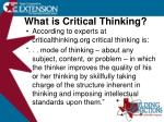 what is critical thinking4