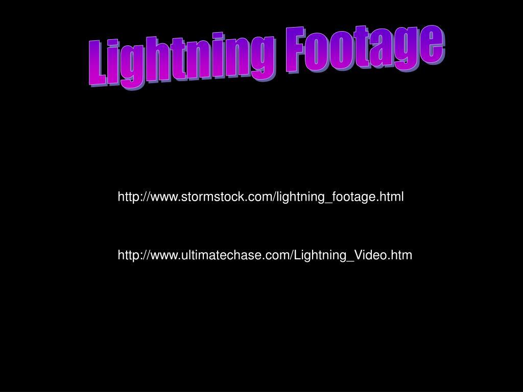 Lightning Footage