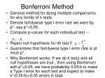 bonferroni method