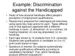 example discrimination against the handicapped