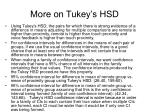 more on tukey s hsd