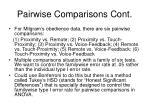 pairwise comparisons cont