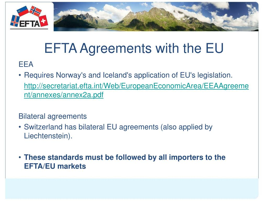 EFTA Agreements with the EU