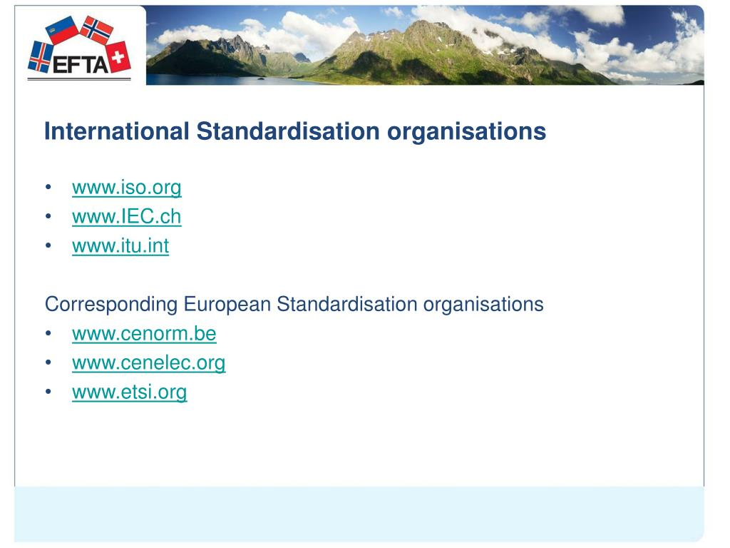 International Standardisation organisations