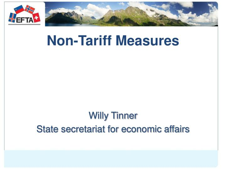Non tariff measures