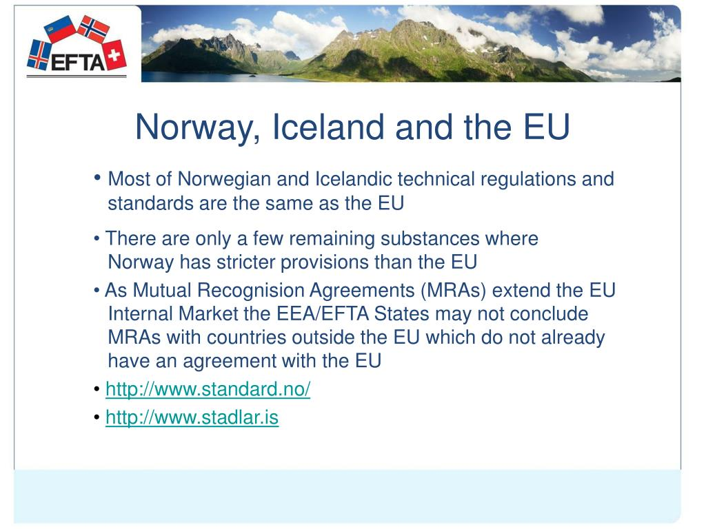 Norway, Iceland and the EU