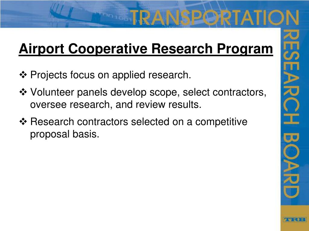 Airport Cooperative Research Program