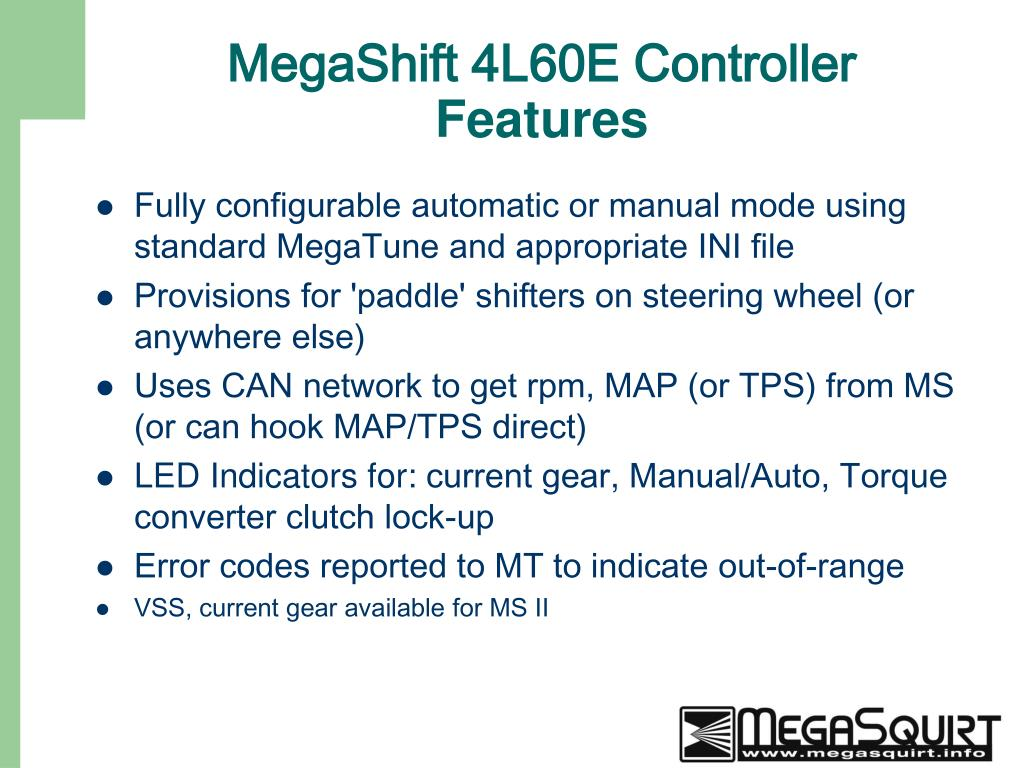 Ppt - Megashift 4l60e Transmission Controller Gpio Program Powerpoint Presentation