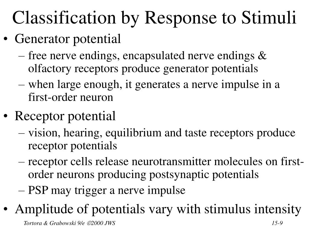 Classification by Response to Stimuli