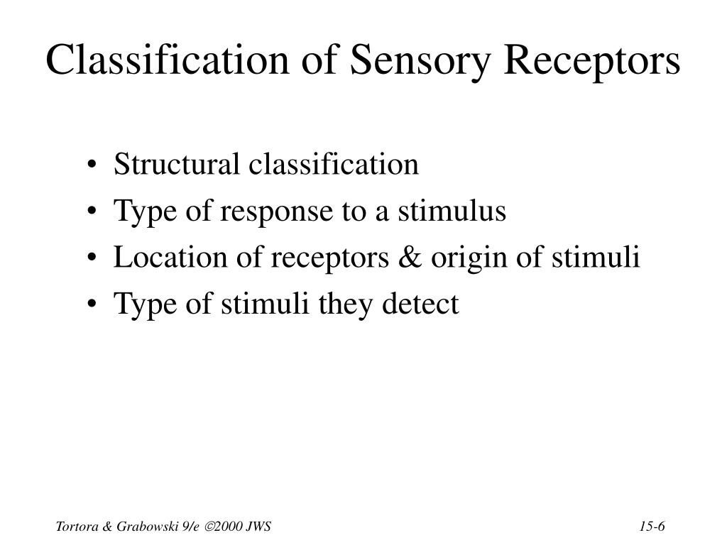Classification of Sensory Receptors