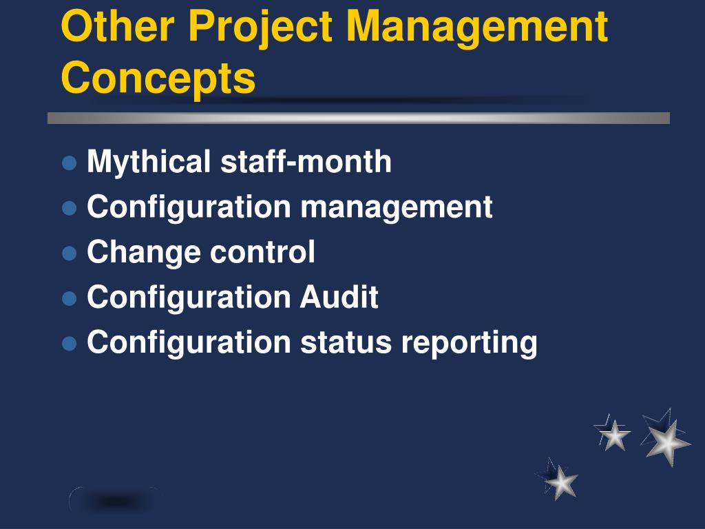 Other Project Management Concepts