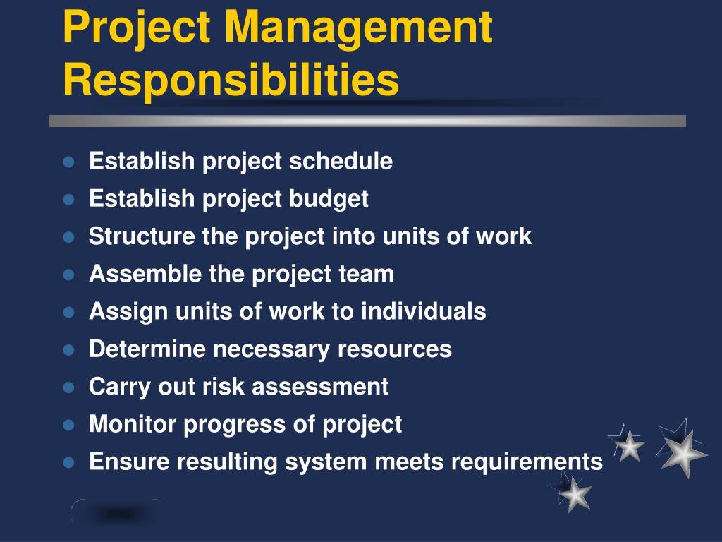 Project Management Responsibilities