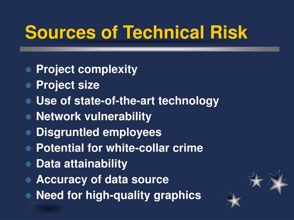 Sources of Technical Risk