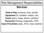risk management responsibilities