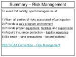 summary risk management