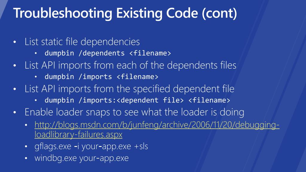Troubleshooting Existing Code (