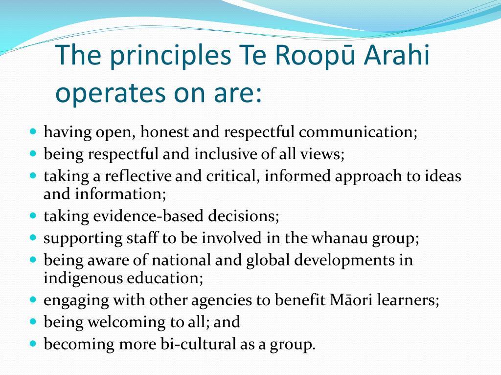 The principles Te