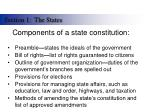 components of a state constitution