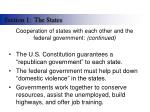 cooperation of states with each other and the federal government continued