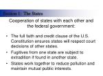 cooperation of states with each other and the federal government