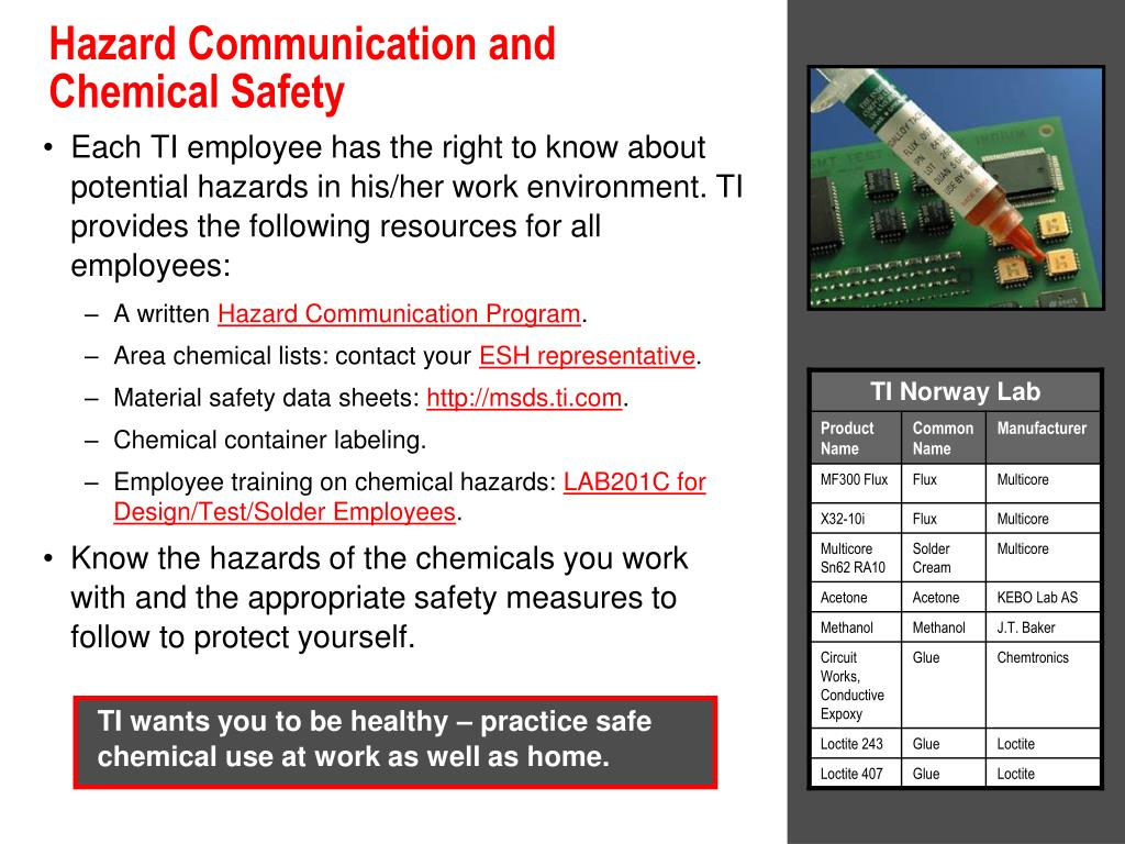 potential hazards to health safety and