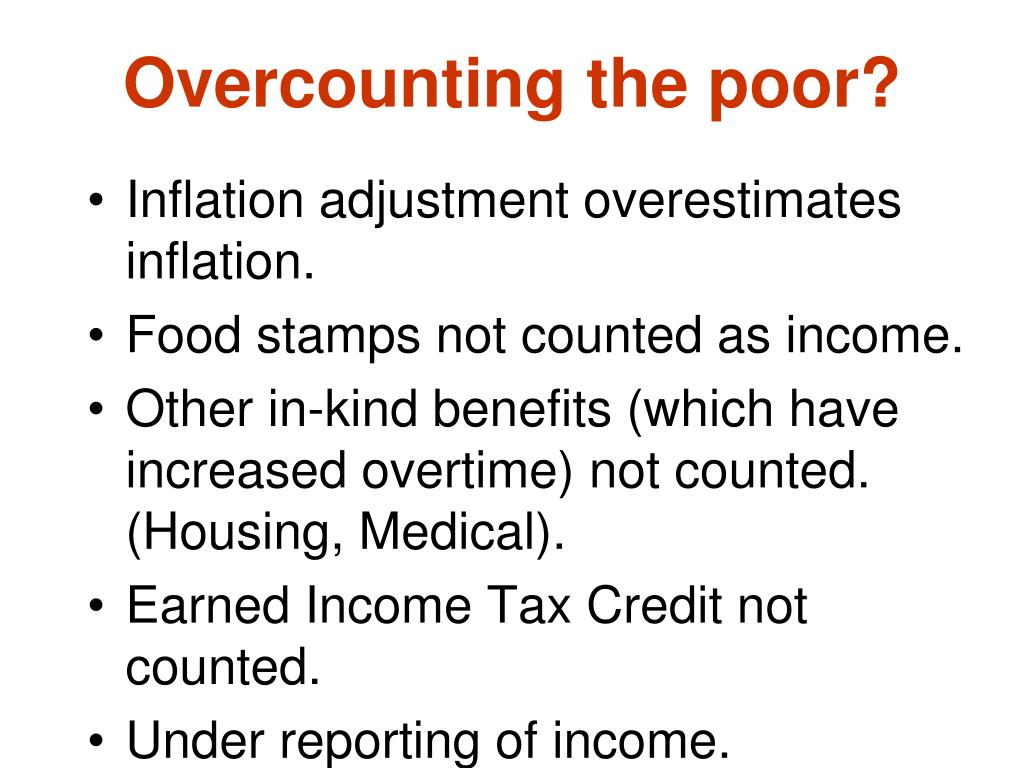 Overcounting the poor?
