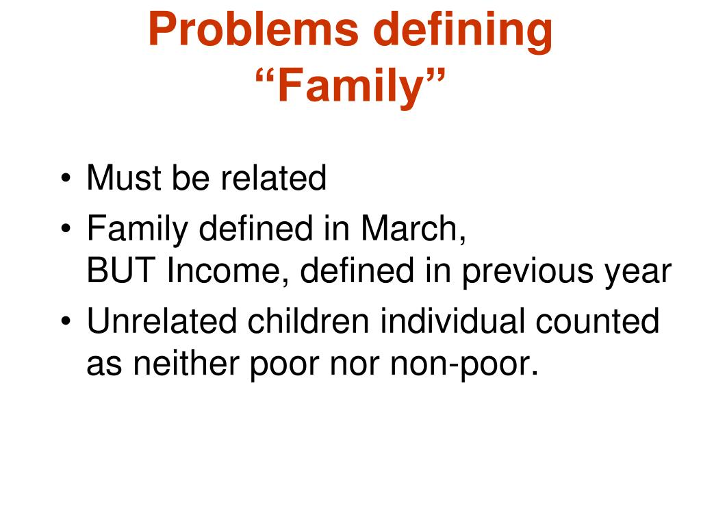 """Problems defining """"Family"""""""